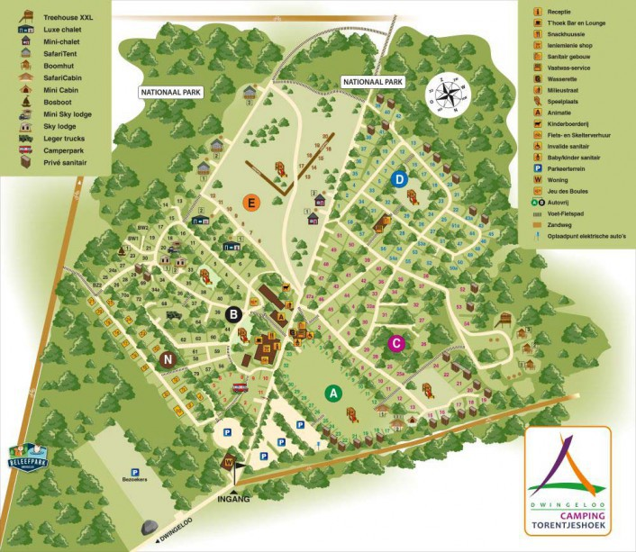 plattegrond camping 2019